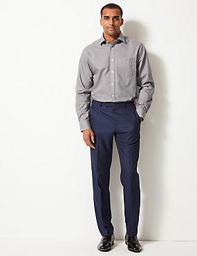 Pure Cotton Non-Iron Regular Fit Shirt, BURGUNDY, catlanding