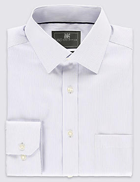 Performance Pure Cotton Non-Iron Fine Striped Shirt