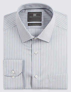 Performance Pure Cotton Non-Iron Striped Shirt