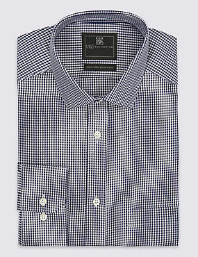 Big & Tall Gingham Non-Iron Shirt