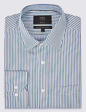 Pure Cotton Non-Iron Striped Shirt