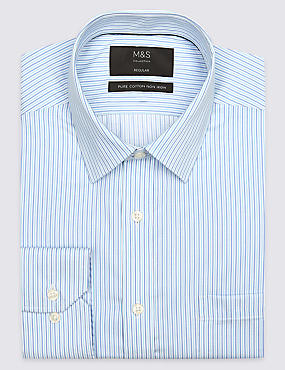 Pure Cotton Regular Fit Shirt with Pocket