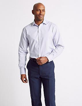 Cotton Blend Non-Iron Regular Fit Shirt, LILAC MIX, catlanding