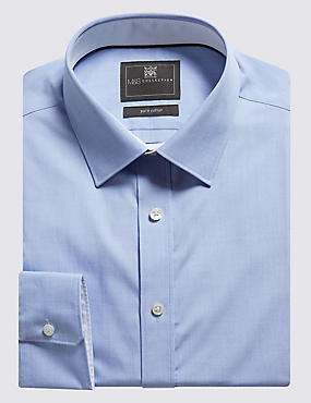 Pure Cotton Tailored Fit Shirt with Contrast Trim