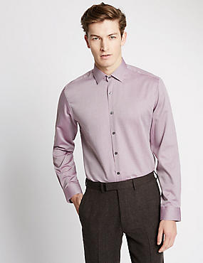 Pure Cotton Tailored Fit Long Sleeve Shirt