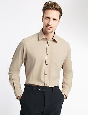Pure Cotton Twill Shirt