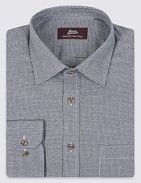 Pure Cotton Twill Checked Shirt