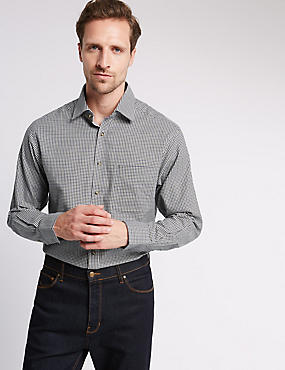 Pure Cotton Long Sleeve Gingham Shirt