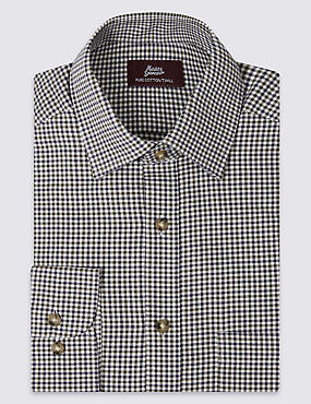 Pure Cotton Twill Gingham Shirt