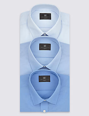 3 Pack Easy to Iron Short Sleeve Shirts
