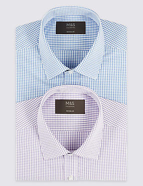 2 Pack Short Sleeve Regular Fit Shirt