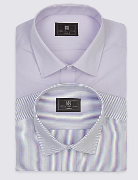 2 Pack Easy to Iron Short Sleeve Shirt