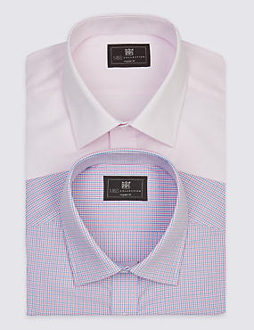 2 Pack Easy to Iron Shirts with Pockets