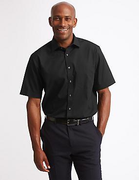3 Pack Cotton Blend Regular Fit Shirts, BLACK, catlanding