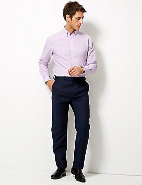 Cotton Blend Tailored Fit Shirt , LILAC, catlanding