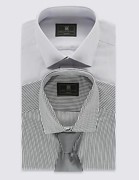 2 Pack Easy to Iron Tailored Fit Shirt