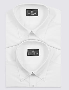 2 Pack Easy Care Long Sleeve Shirts