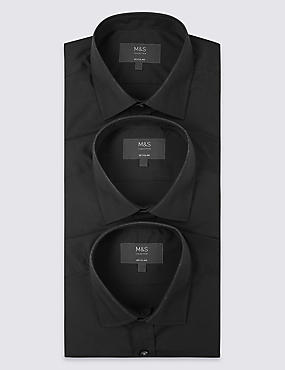 3 Pack Easy to Iron Regular Fit Shirts