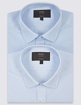 2 Pack Cotton Blend Regular Fit Shirt