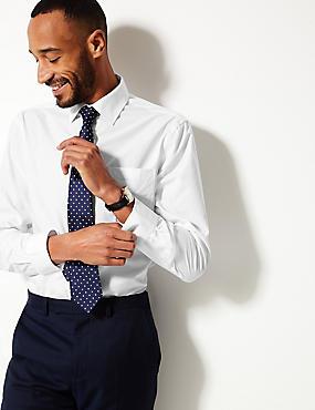 3 Pack Cotton Blend Regular Fit Shirts, WHITE, catlanding