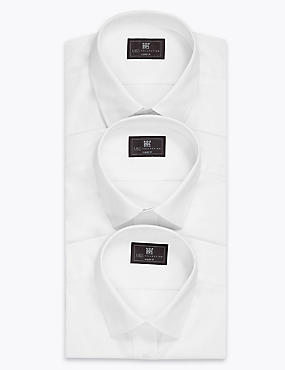 3 Pack Easy Care Classic Collar Shirts with Pocket