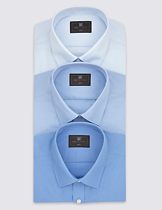 3 Pack Slim Fit Shirts with Pocket Clothing