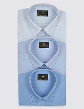 3 Pack Tailored Fit Shirts with Pocket
