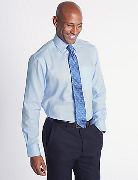 2 Pack Regular Fit Shirts with Tie, BLUE, catlanding