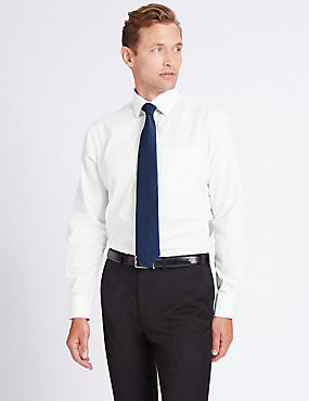 Cotton Blend Easy to Iron Shirt with Tie