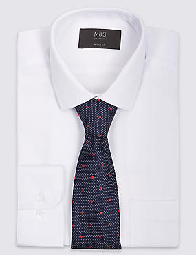 Easy to Iron Regular Fit Shirt with Tie