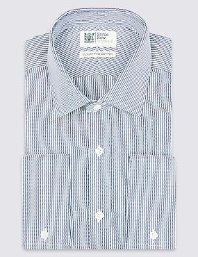 Pure Cotton Tailored Fit Shirt, INDIGO MIX, catlanding
