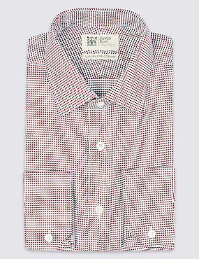 Pure Cotton Tailored Fit Shirt, RUSSET, catlanding