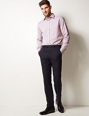 Pure Cotton Tailored Fit Shirt, RED MIX, catlanding