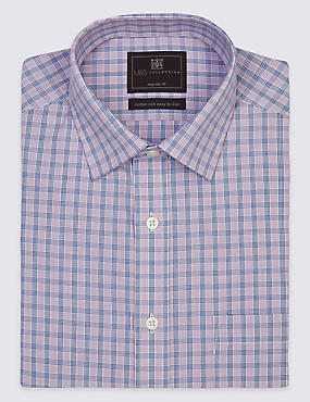 Non-Iron Short Sleeve Shirt with Pocket