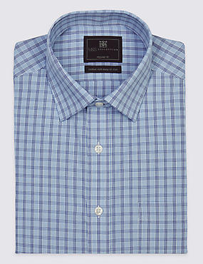 Cotton Rich Easy to Iron Shirt with Pocket