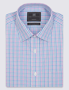 Cotton Rich Regular Fit Shirt with Pocket