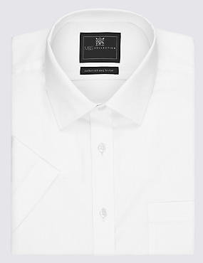Cotton Rich Easy to Iron Short Sleeve Twill Shirt