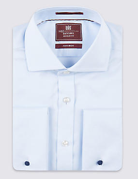 2in Longer Pure Cotton Ultimate Non-Iron Twill Shirt