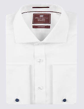 2in Longer Pure Cotton Non-Iron Shirt