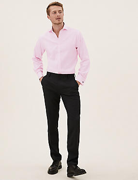 Pure Cotton Tailored Fit Shirt, PINK SORBET, catlanding