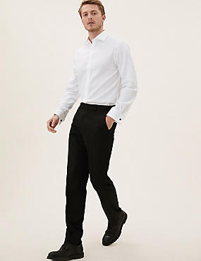 Pure Cotton Tailored Fit Shirt, WHITE, catlanding