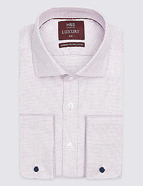 Pure Cotton Easy to Iron Slim Fit Shirt