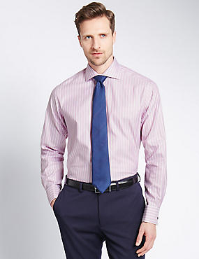 Pure Cotton Slim Fit Oxford Striped Shirt