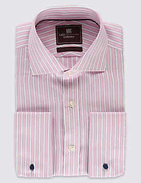 Pure Cotton Long Sleeve Striped Shirt