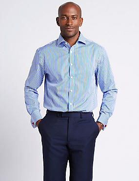 Pure Cotton Regular Fit Striped Shirt