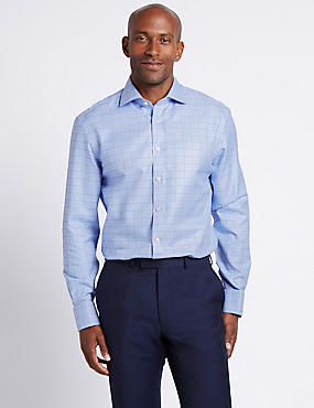 Pure Cotton Non-Iron Textured Shirt