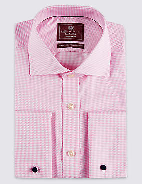 Pure Cotton Easy to Iron Textured Shirt