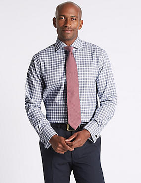Pure Cotton Regular Fit Checked Shirt