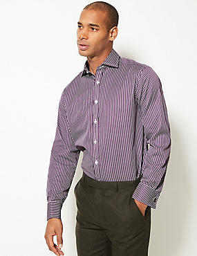 Pure Cotton Regular Fit Shirt, BURGUNDY MIX, catlanding