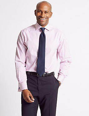Pure Cotton Regular Fit Shirt, PINK MIX, catlanding